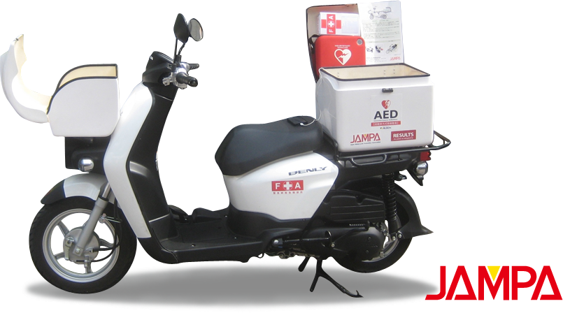 防災減災バイク (AED搭載)